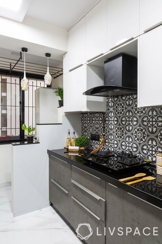 modern house interior design-grey kitchen