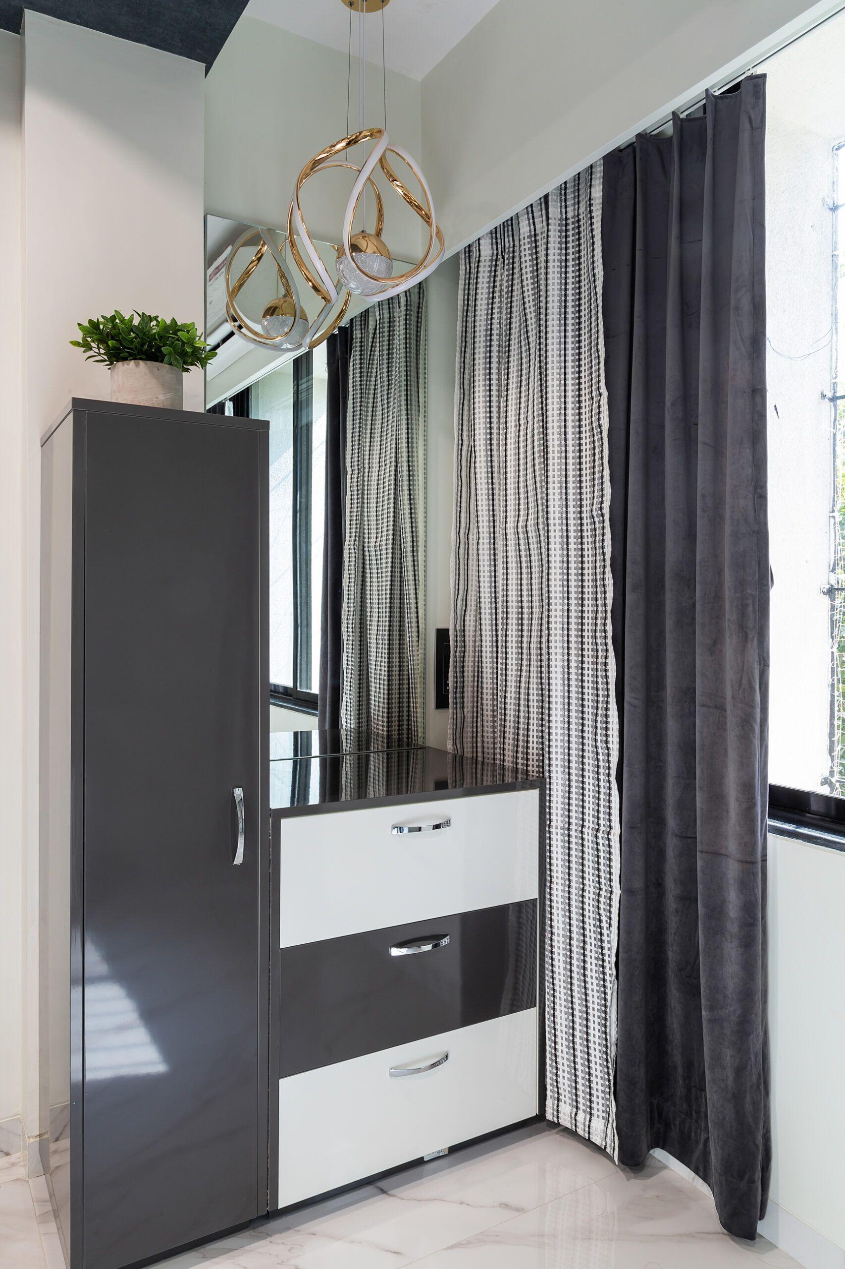 dresser unit-grey laminate finish