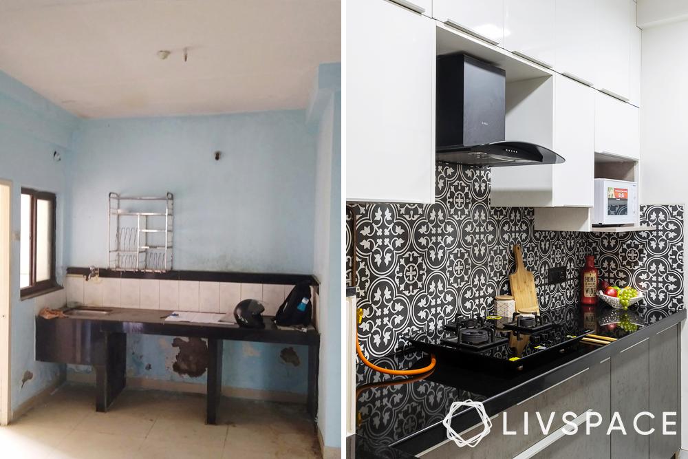 kitchen-before after kitchen
