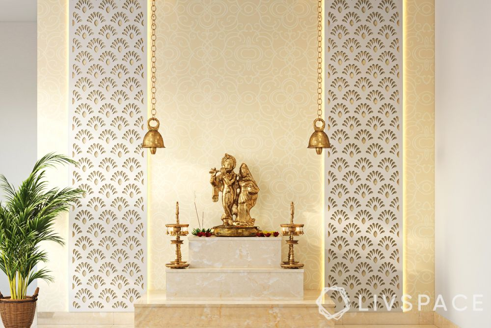 vastu tips for pooja room-white mandir