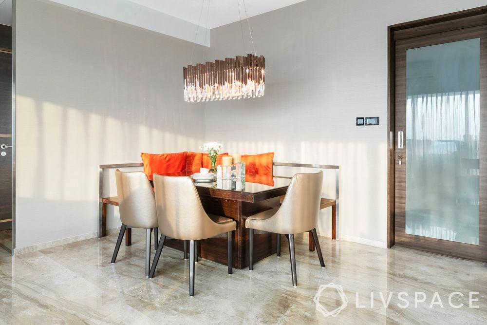 chandelier designs-orange cushions