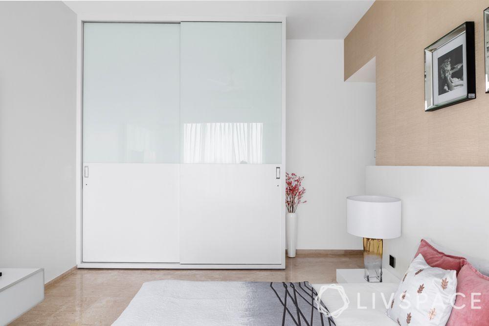 sliding wardrobe-white wardrobe