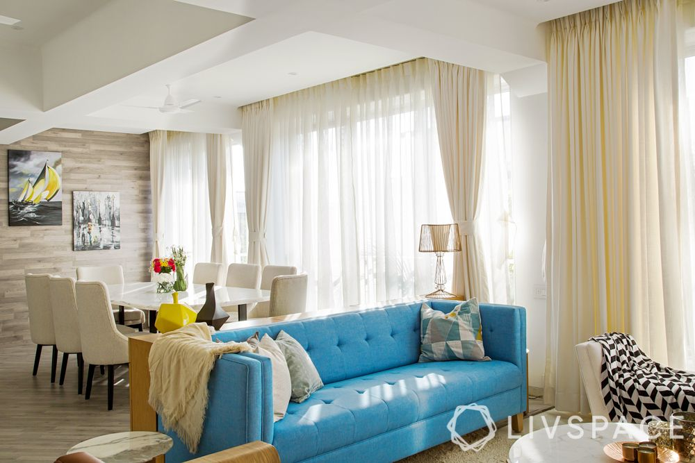 two colour combination for living room - colour pop