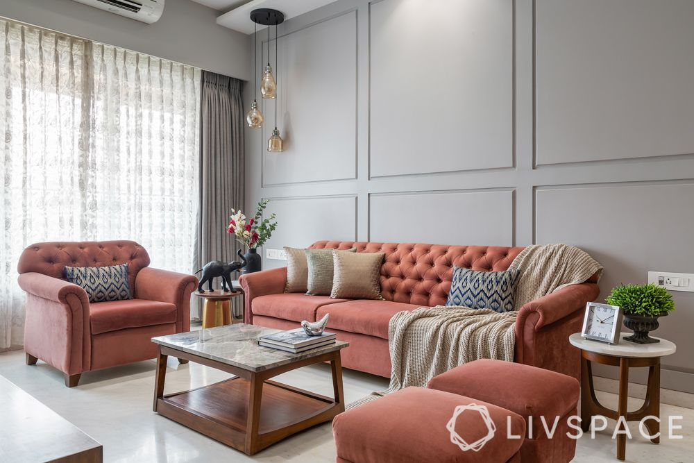 two colour combination for living room - pastels