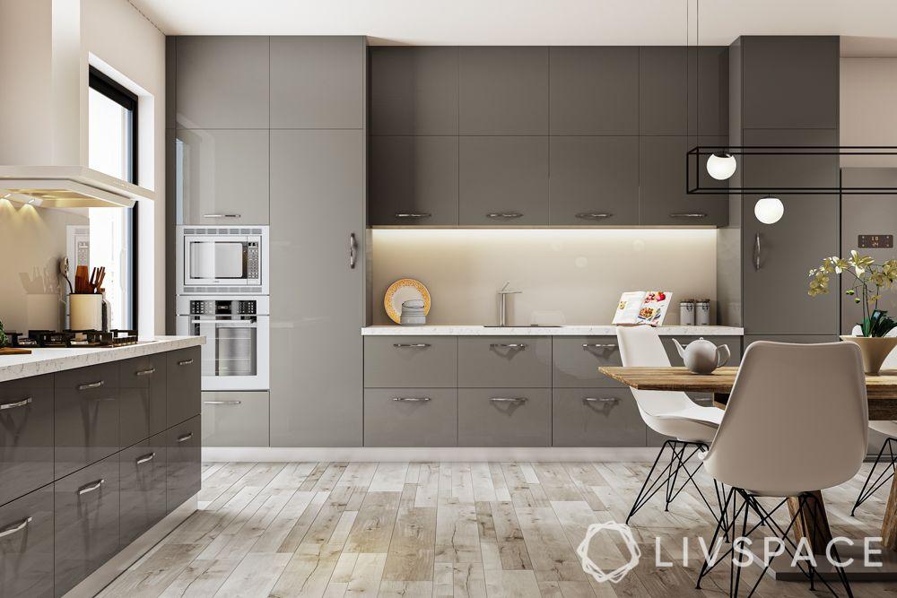 kitchen in india-stainless steel kitchen