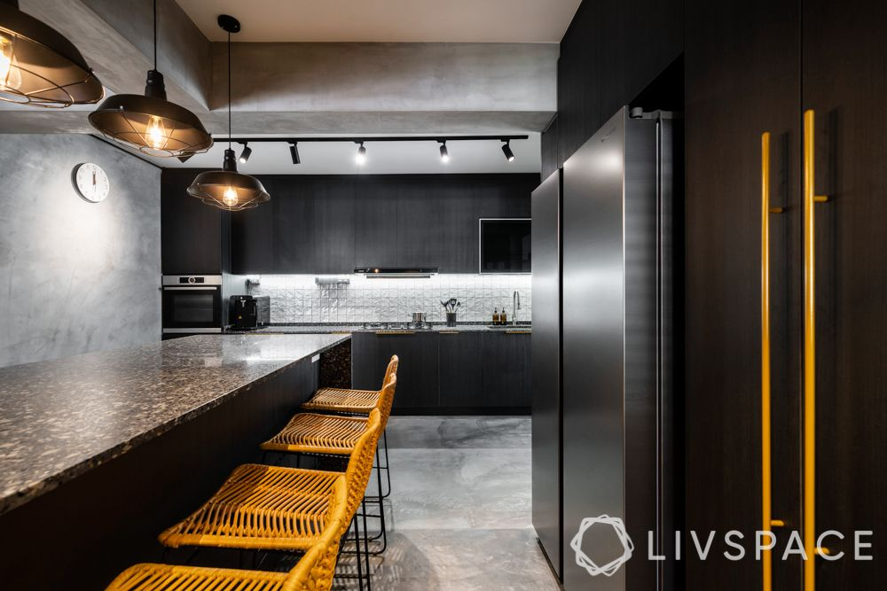 industrial kitchen-grey kitchen