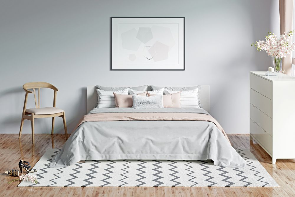 small bedroom design-carpet-bed