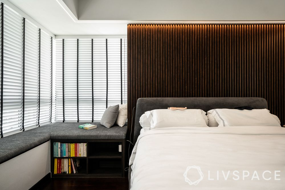 bedroom interior design-bed-side table-cum-seating