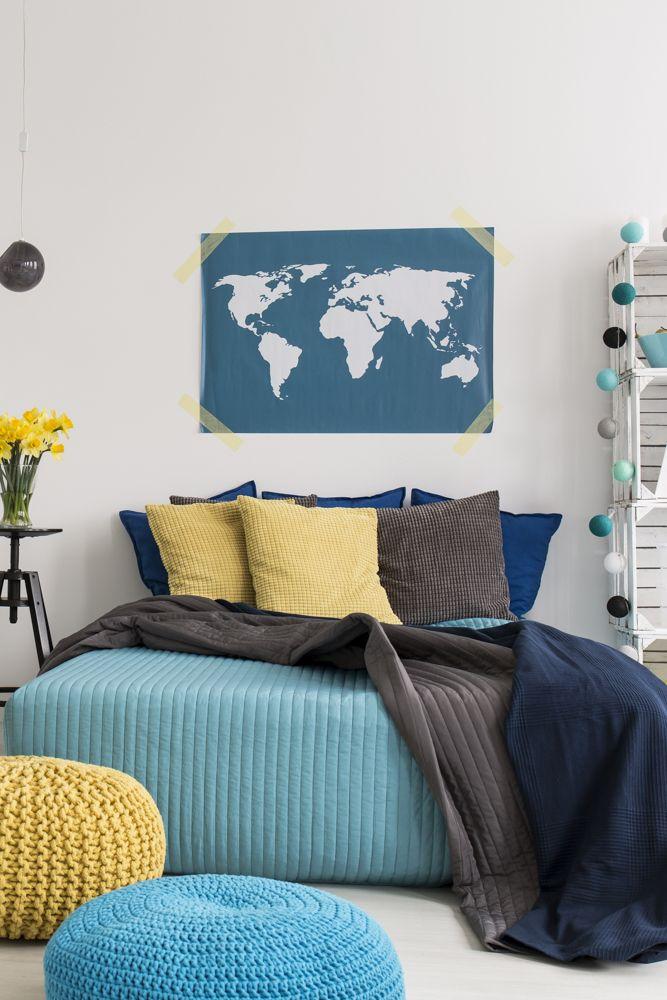 bedroom interior design-pouffe-bed