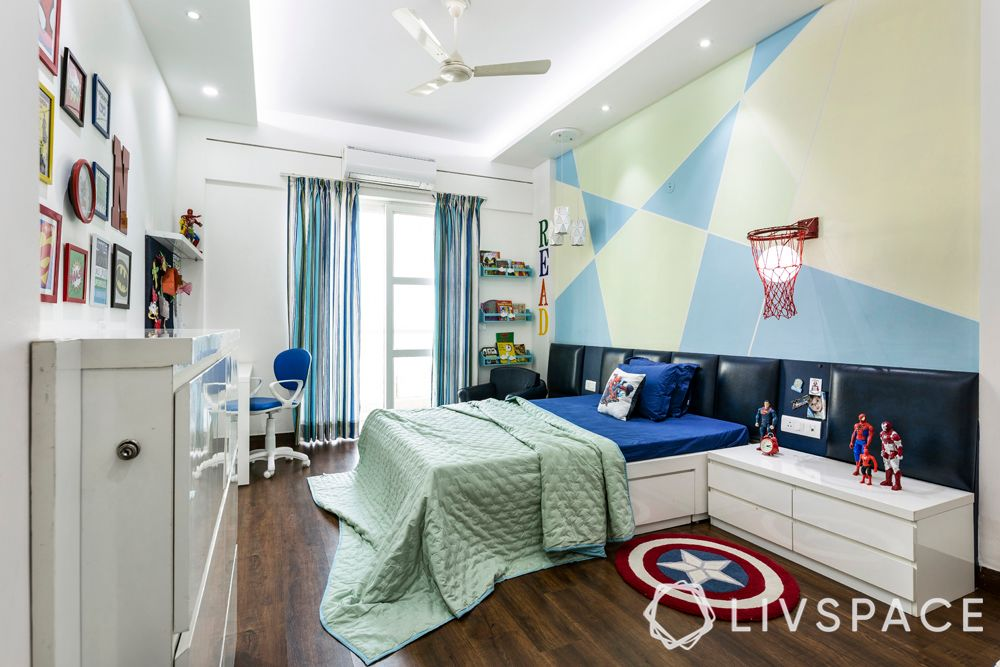 bedroom design for girls-Marvel themed room