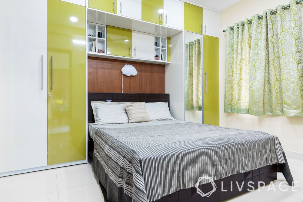 green wardrobe-modular wardrobe design