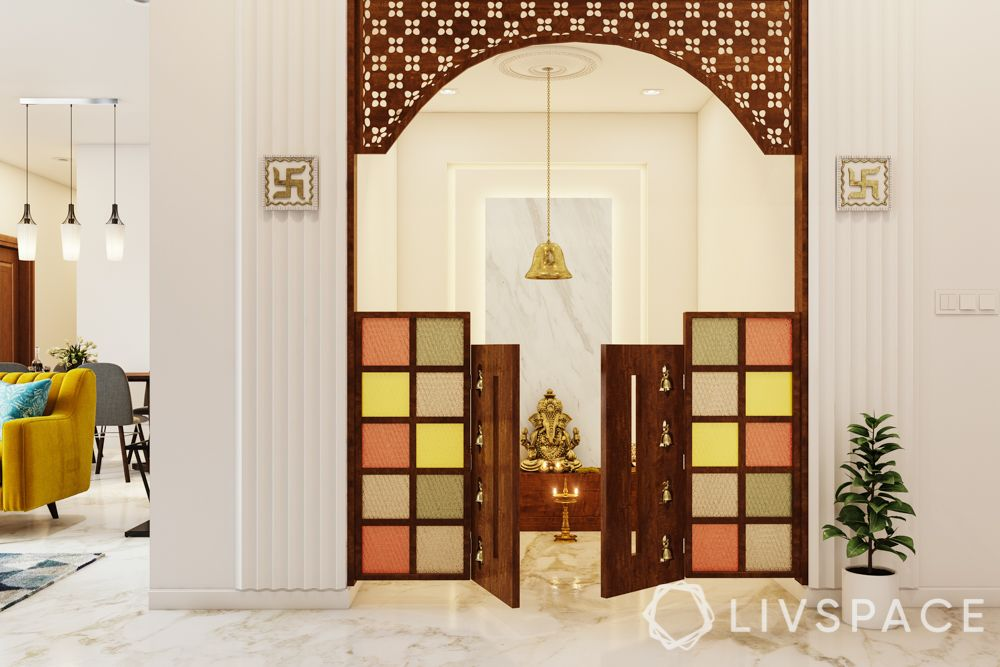 Home temple-colourful door