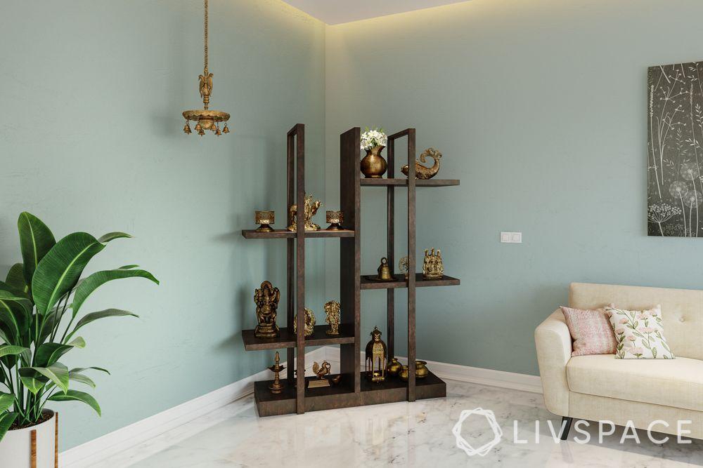 display pooja-wooden unit-hanging lamp