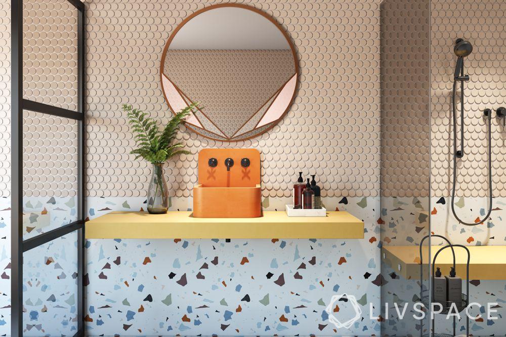 bathroom tiling designs - terrazzo tiles