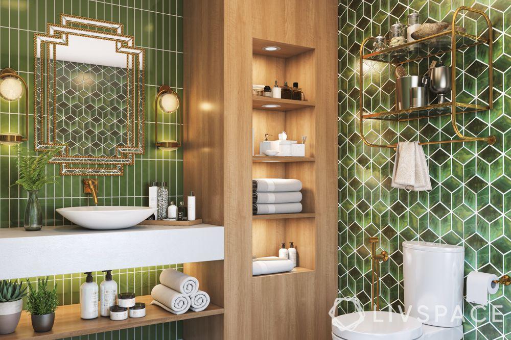 bathroom tiling designs - combination tiles