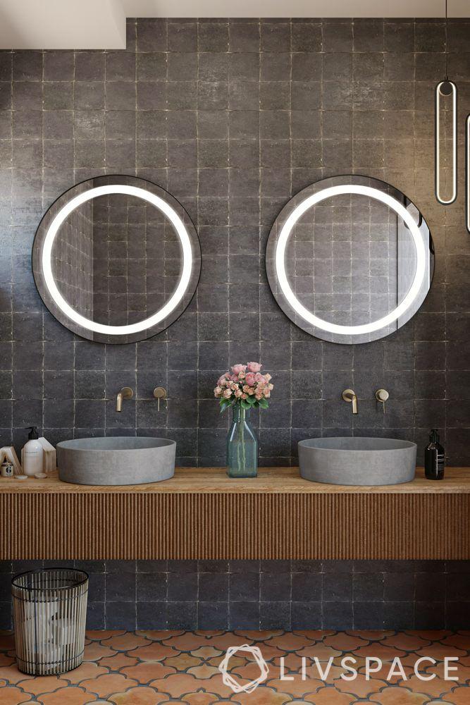 bathroom tile designs - terracotta tiles