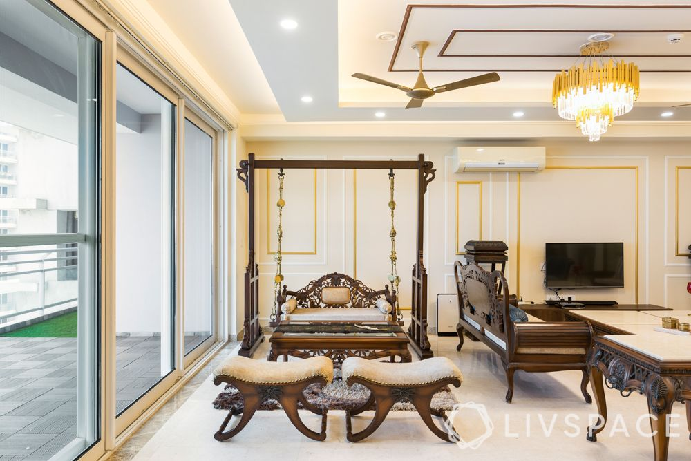 living rooms-indian traditional