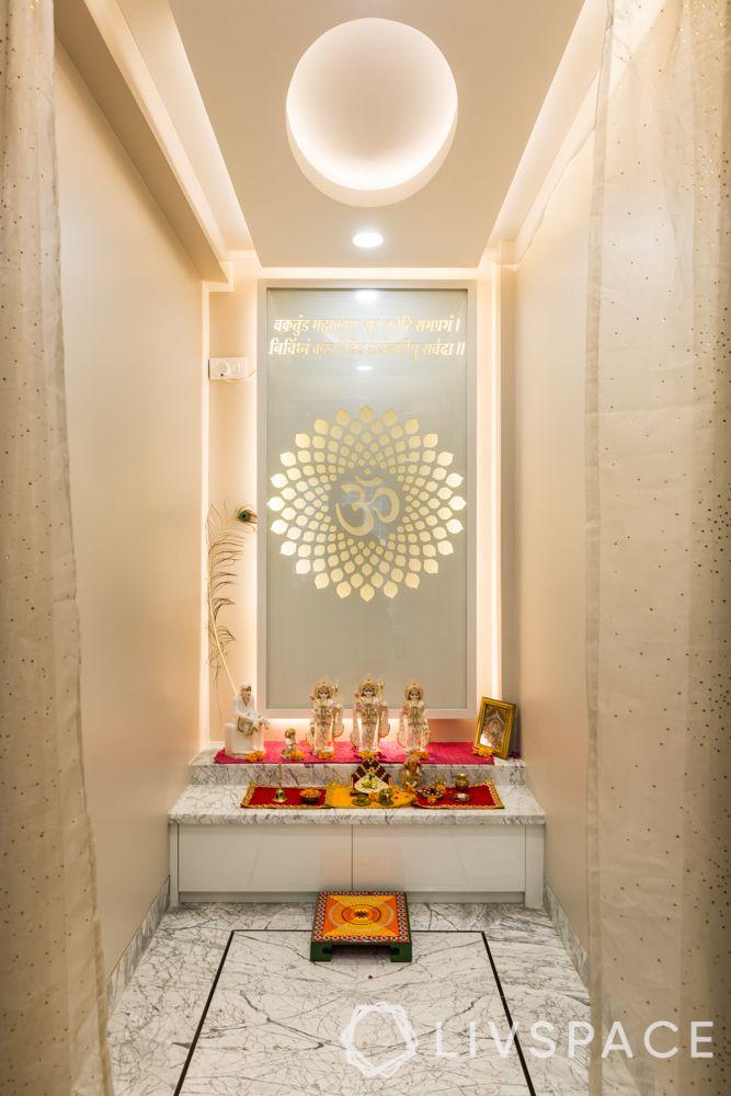 pooja room ceiling design - false ceiling