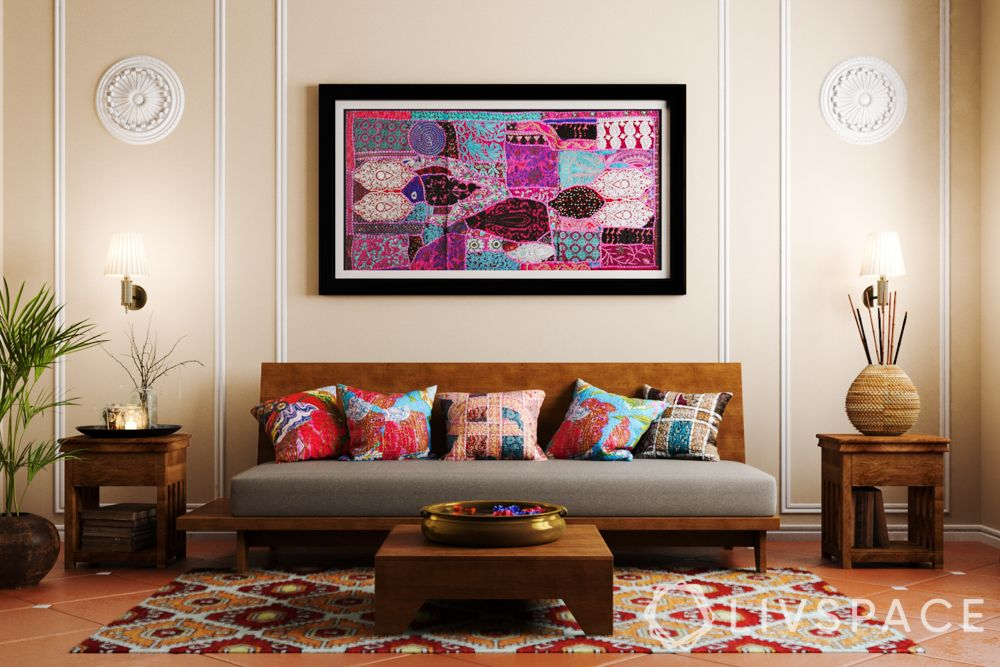 indian interior design - colourful patchwork