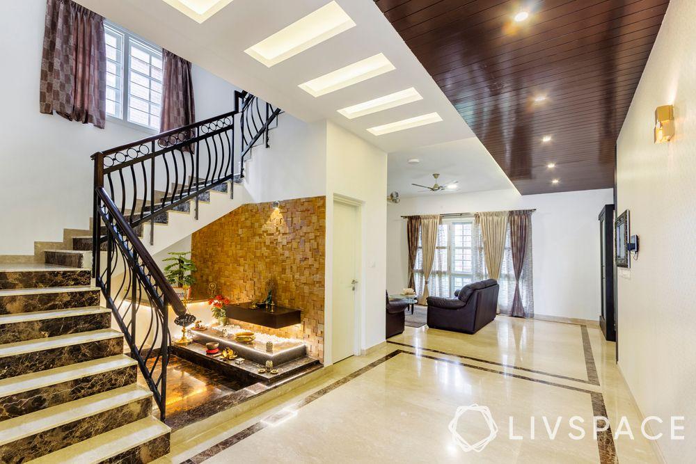 types of stairs design-zigzag design