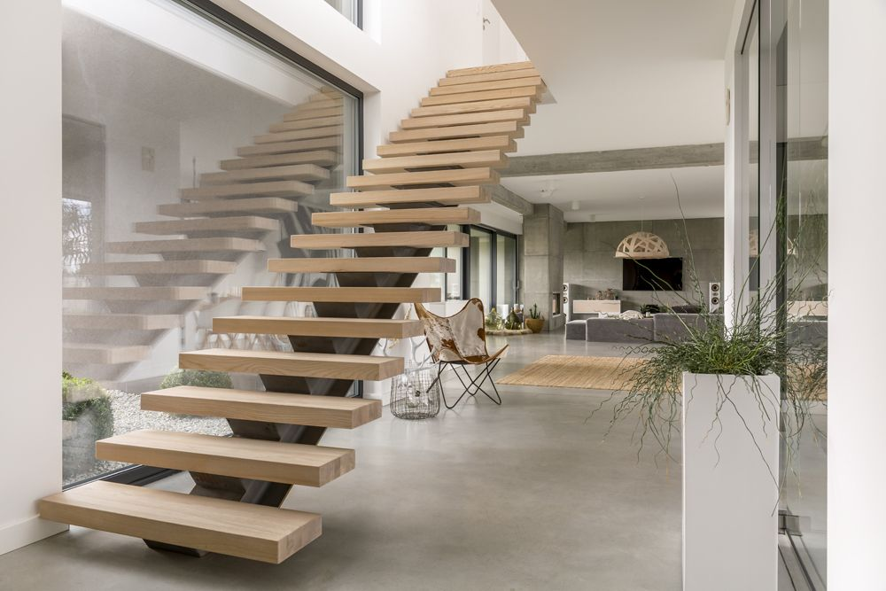 types of stairs design-floating stairs-cantilevered