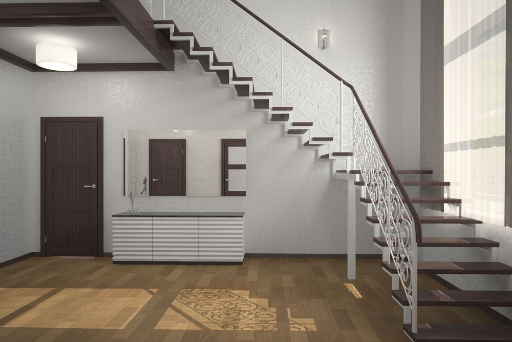 types of stairs design-contemporary design-floating stairs-jaali railing