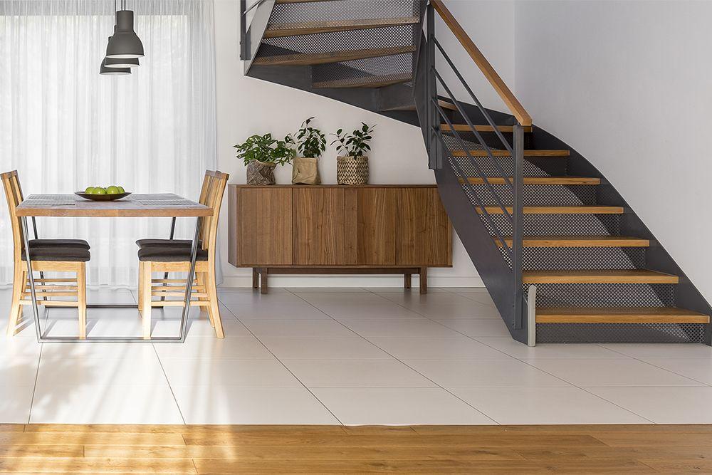 stairs design-wood stairs-metal railing