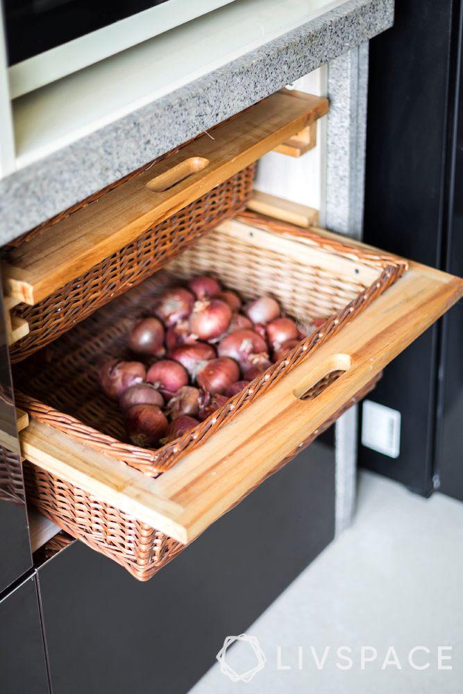 wicker basket-kitchen storage