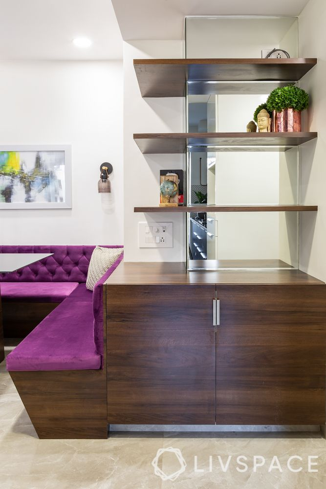 3 bhk apartment interior-shelf designs