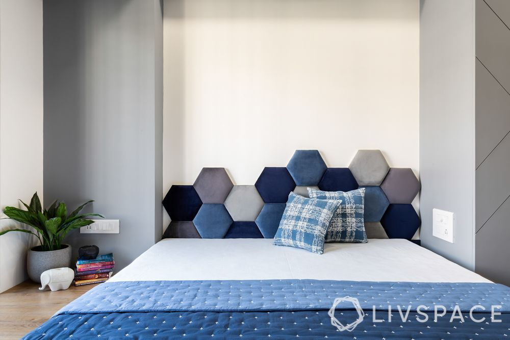 headboard designs-blue headboard