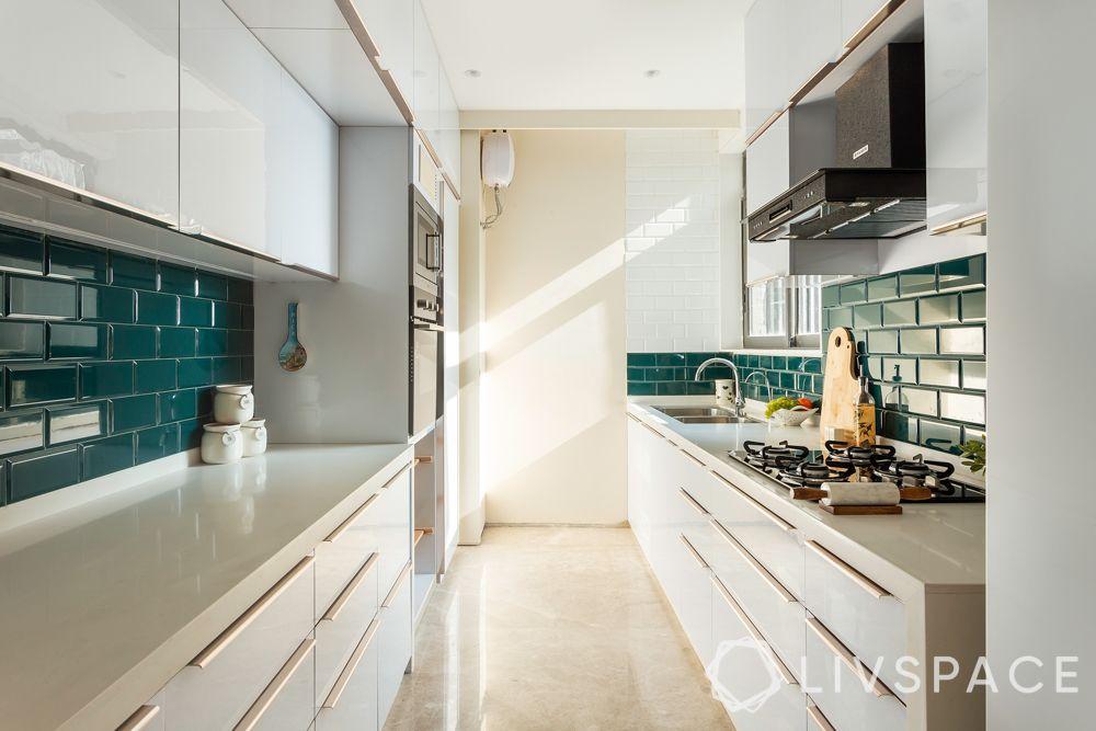 simple kitchen design-white kitchen-vastu friendly colour