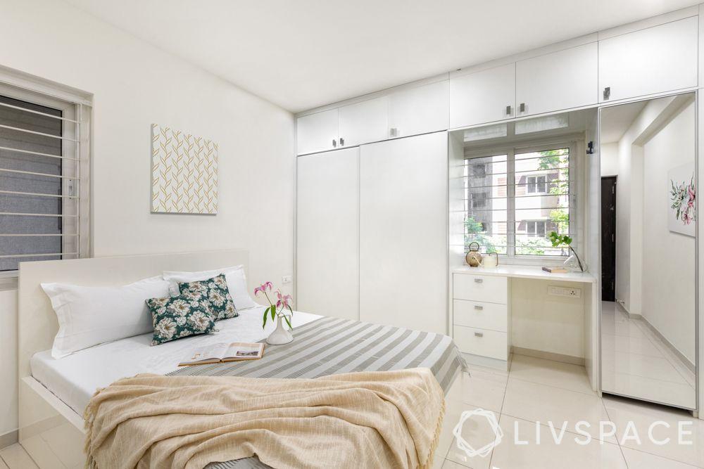 simple Indian bedroom design-white bedroom
