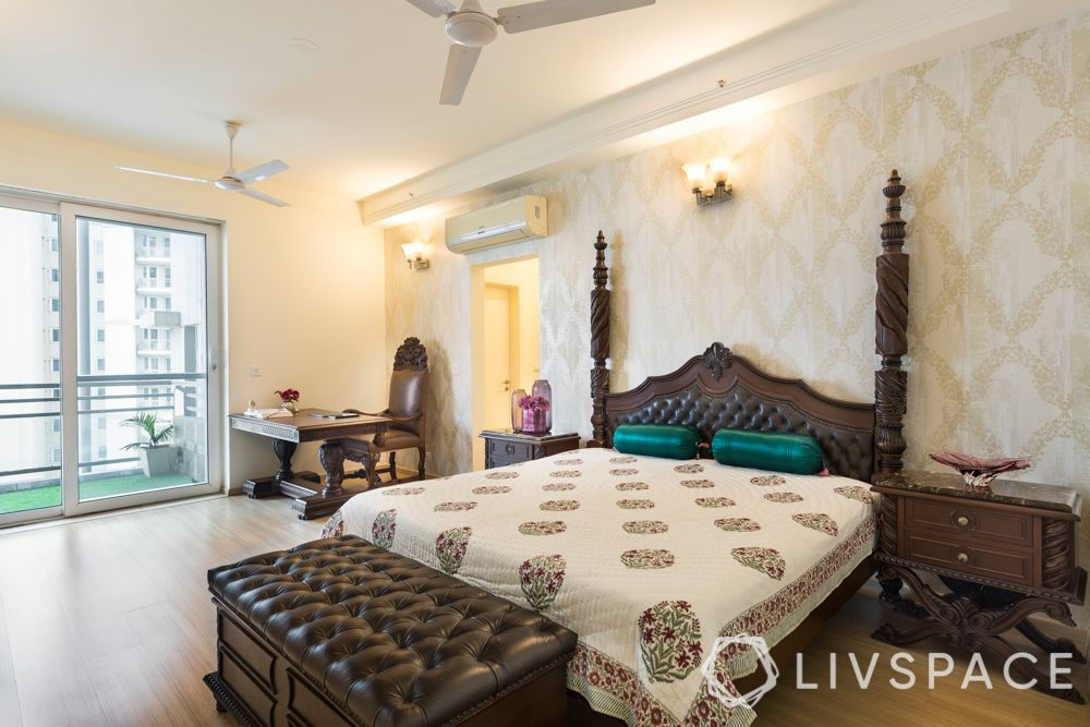Indian style bedroom-colonial bedroom