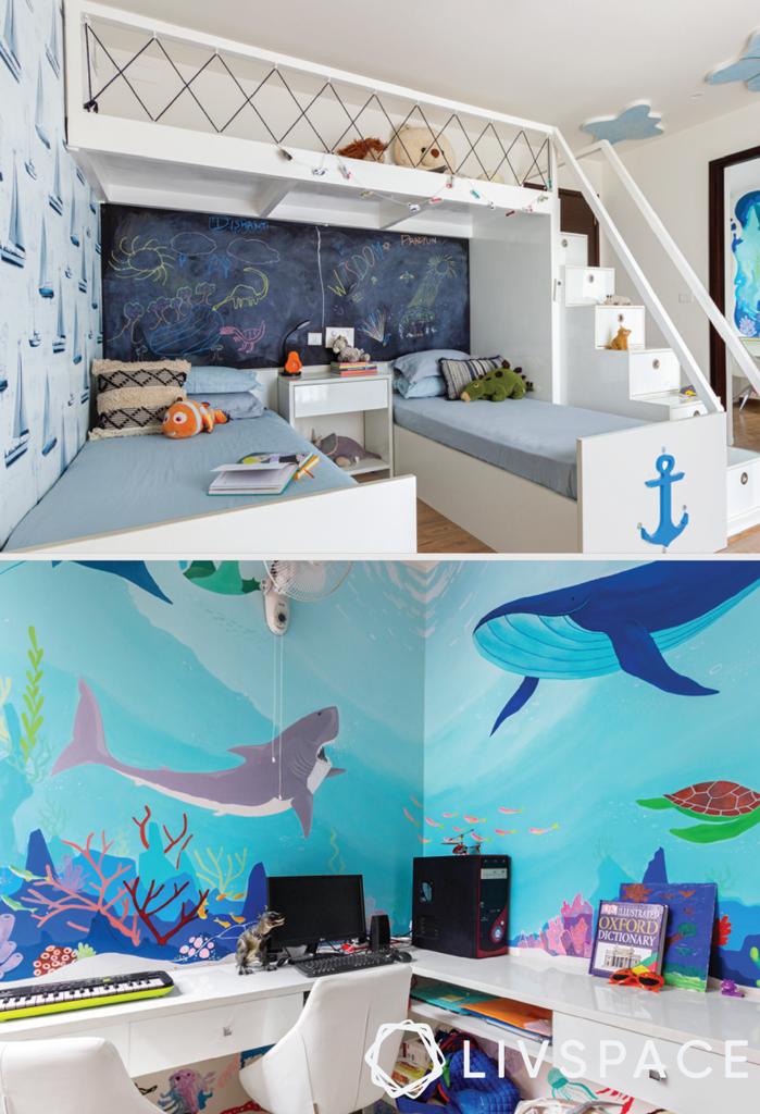 girls room designs - ocean theme