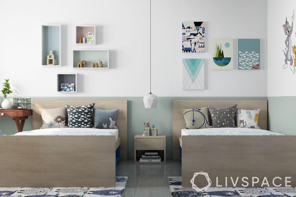 girls room designs - simple twin bedroom