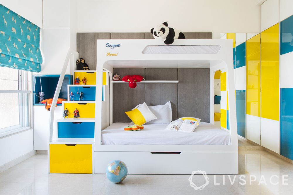 girls room designs - pop of colour