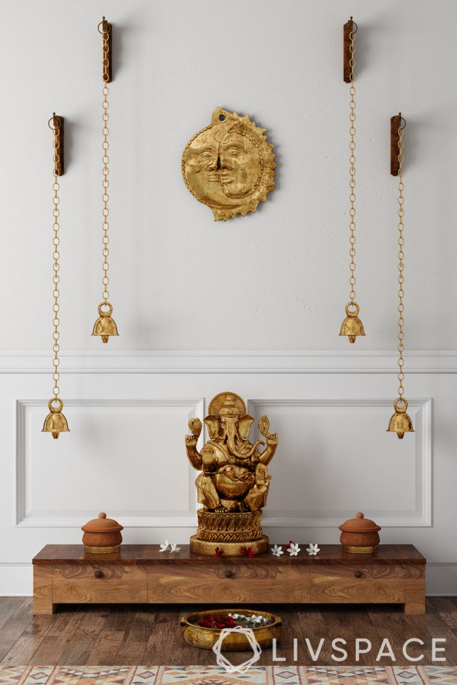 pooja room designs for south indian homes_bells