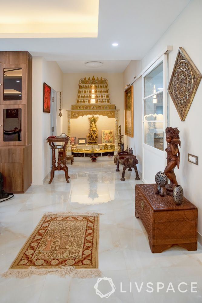 pooja room designs for south indian homes_temple style