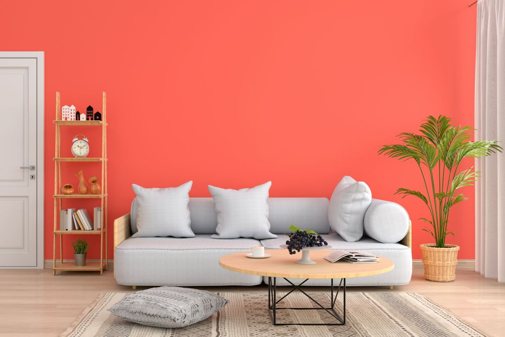 paint trends-peach coloured wall