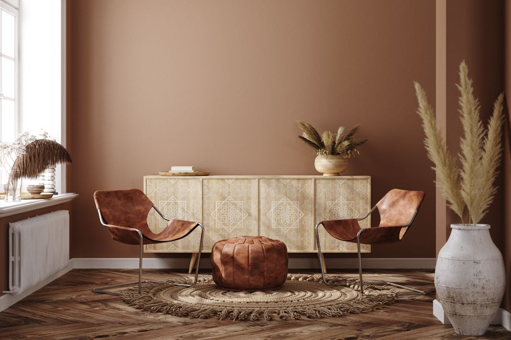 paint trends 2021-coffe coloured wall