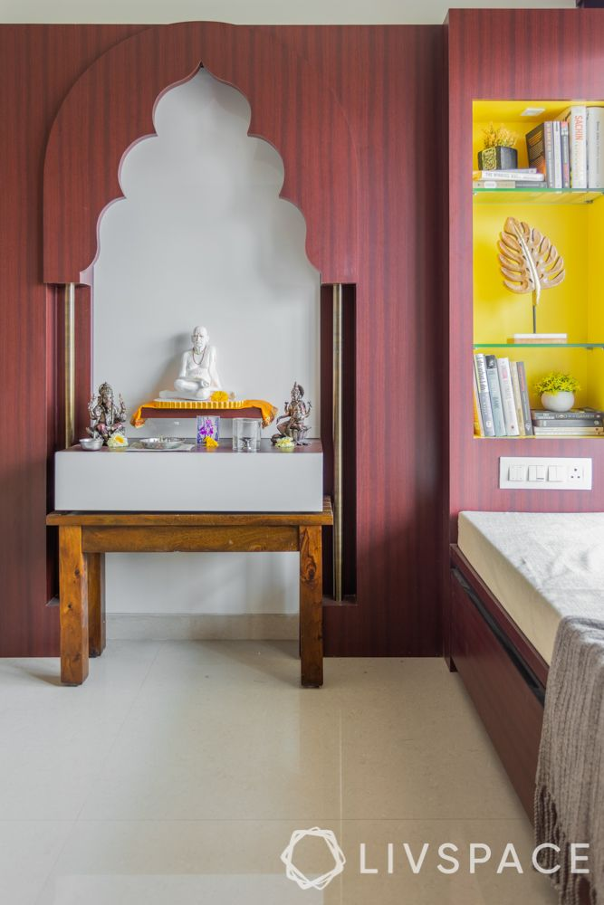 pooja room design-bedroom