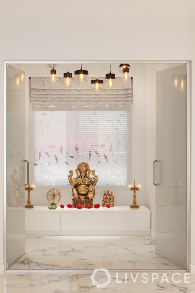 pooja room design-marble mandir