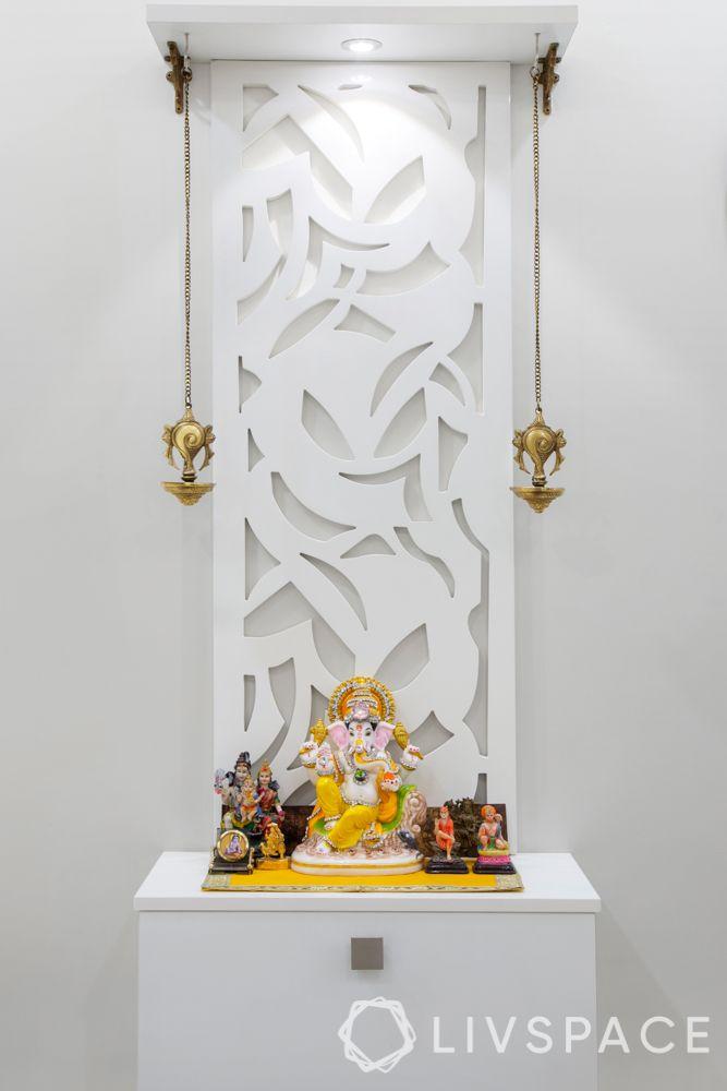 pooja unit-white-modern-compact