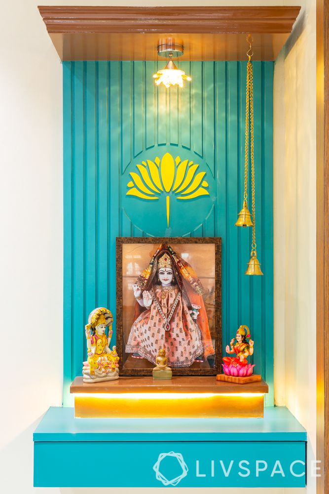 pooja room design-wall mounted