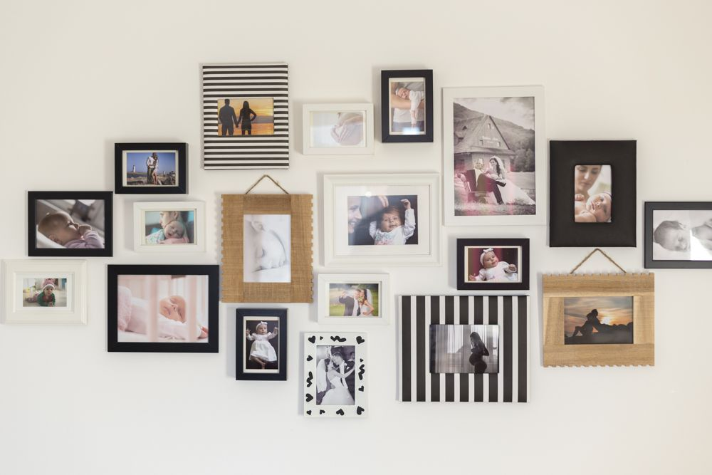 gallery wall-framed photographs