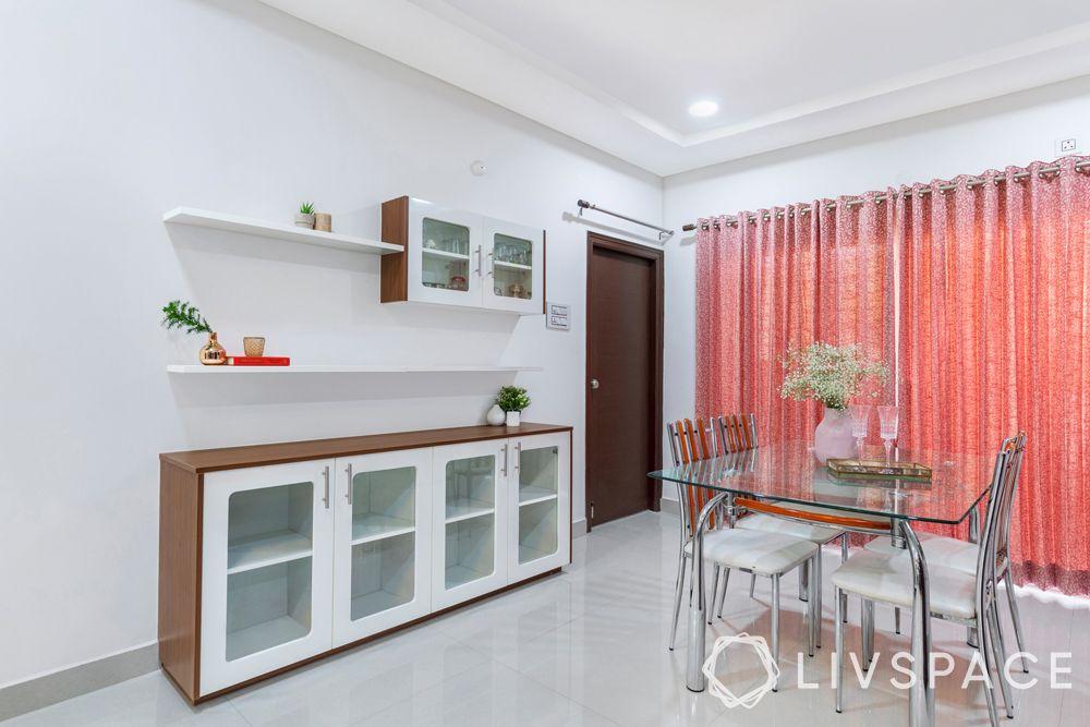 hyderabad interior design-dining room-crockery unit
