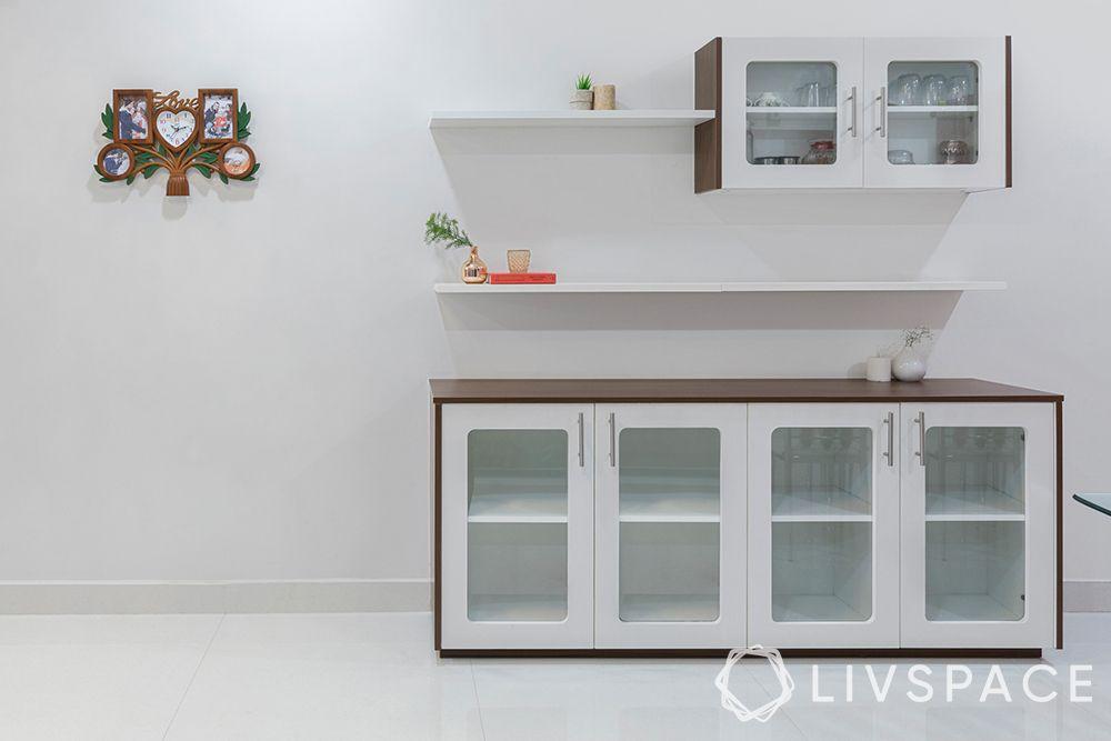 livspace hyderabad-crockery unit-modular-storage-display racks