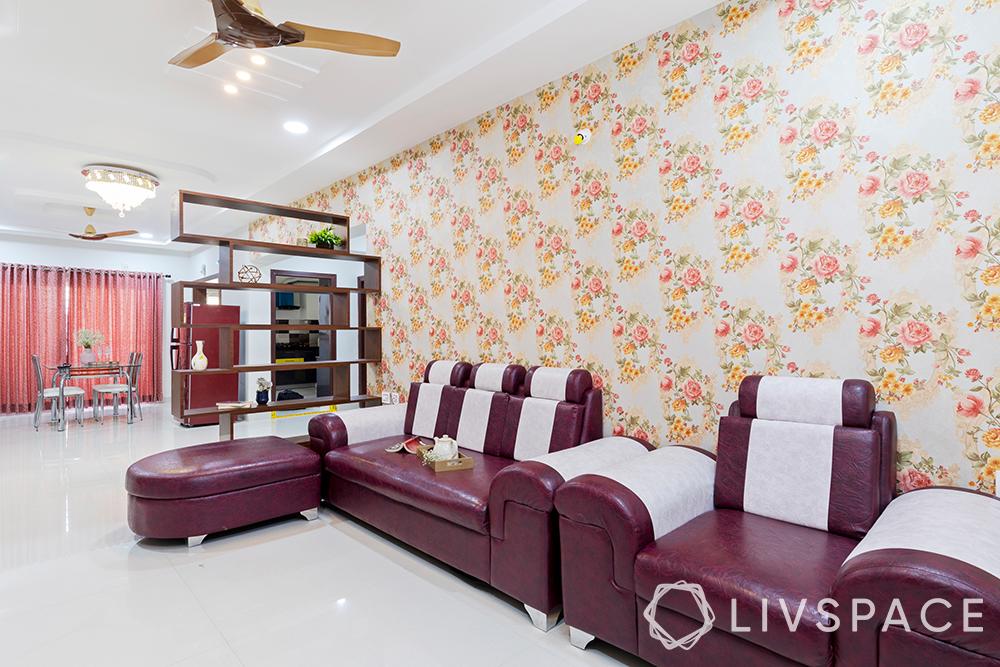 hyderabad interior design-living room-sofa-partition
