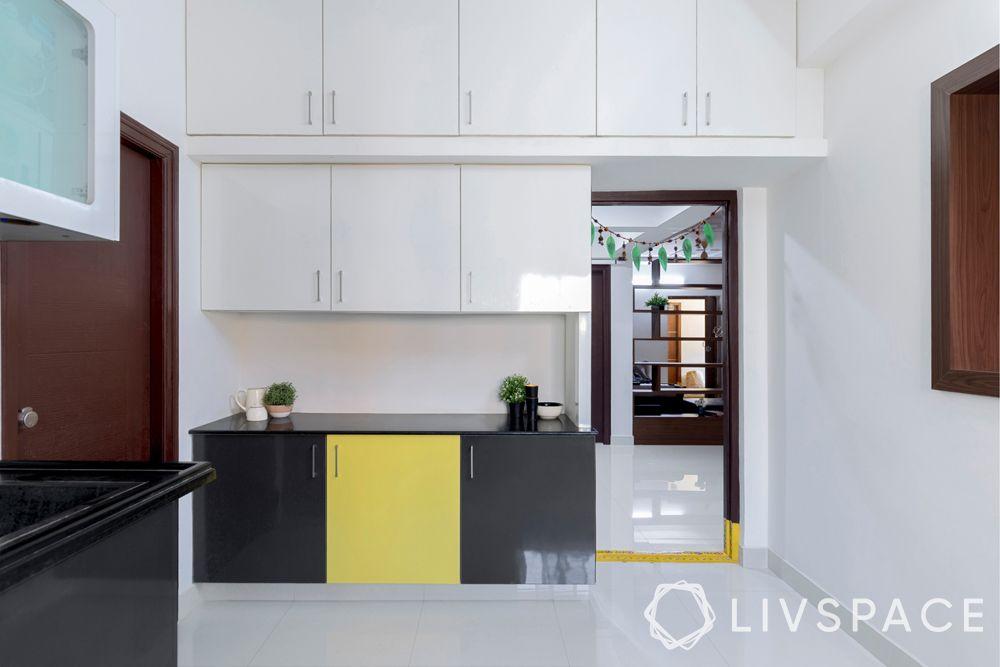 livspace hyderabad-custom units-laminate-monochrome