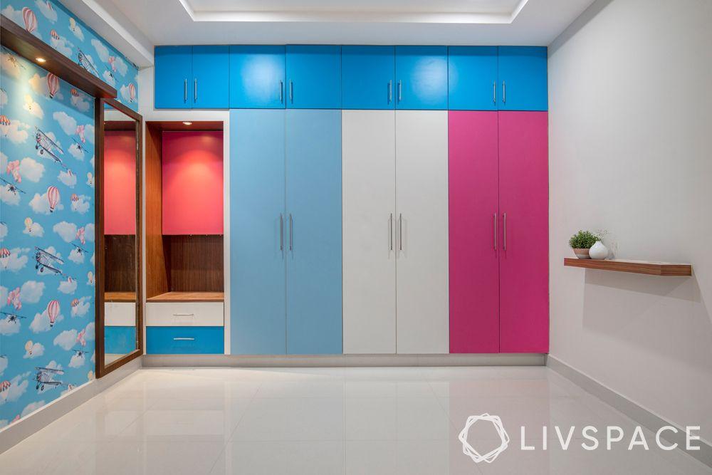 hyderabad interior design-wardrobe for boy and girl-dresser unit